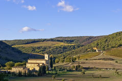 Abbey of Sant'Antimo, Tuscany Royalty Free Stock Image