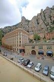 Abbey Santa Maria de Montserrat i Monistrol de Montserrat, Spanien Arkivbilder