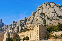 Abbey of Santa Maria de Montserrat, Spain Royalty Free Stock Photos