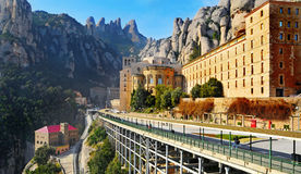 Abbey of Santa Maria de Montserrat, Spain Stock Image