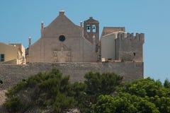 Abbey of Santa Maria a Mare in the Tremiti islands, Puglia. Italy stock photography