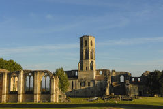 Abbey Sauve-Majeure, ruta a Santiago Compostela, la UNESCO Imagen de archivo libre de regalías