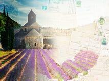 Abbey Senanque- und Lavendelfeld, Frankreich Lizenzfreie Stockbilder