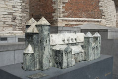 Abbey of Sint-Truiden: architectural model Stock Images