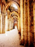 Abbey of St. Galgano, Tuscany Stock Photo