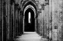 Abbey of St. Galgano, Tuscany Royalty Free Stock Photography