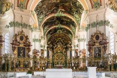 Abbey of St. Gall - The Roman Catholic Cathedral. UNESCO World H Royalty Free Stock Image