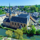 Abbey and St. Ioann Chirch, Luxembourg Royalty Free Stock Photo