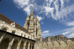 Abbey of St-Jean-des Vignes in Soissons Stock Images