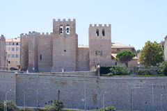 Abbey St Victor, i Marseille, Provence, Frankrike Royaltyfria Foton