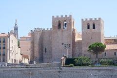 Abbey St Victor, i Marseille, Provence, Frankrike Arkivbild