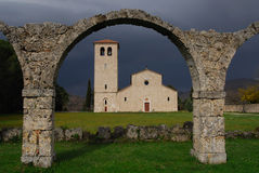 Abbey of St. vincent ancient monastery Stock Image