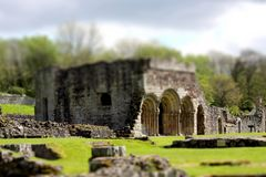 Abbey tilt and shift A Stock Image
