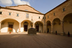 abbey tuscan Royaltyfri Foto
