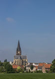 They abbey of village Thorn in Limburg Stock Image