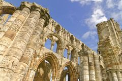 Abbey of whitby, yorkshire, england Stock Photo