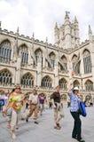 abbeybad england historiska somerset Arkivbilder