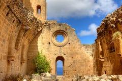 abbeybellapais cyprus Royaltyfri Fotografi