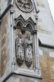 abbeydetaljfacade westminster Arkivbilder