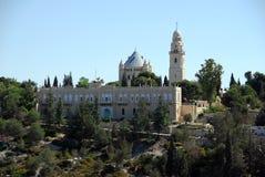 abbeydormition jerusalem Arkivfoto