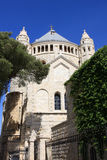 abbeydormition jerusalem Royaltyfria Foton