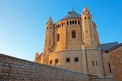 abbeydormition jerusalem Arkivbild