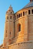 abbeydormition jerusalem Arkivbilder