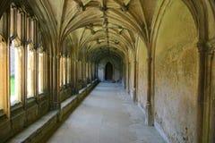 abbeyen cloisters lacockliggande royaltyfri fotografi