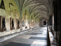abbeyen cloisters westminster Royaltyfria Bilder