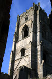 abbeyengland springbrunnar yorkshire Arkivbilder