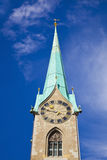 abbeyfraumunster zurich Royaltyfri Bild