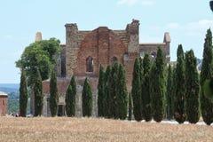abbeygalgano italy san tuscany Royaltyfria Foton