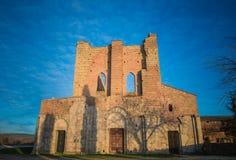 abbeygalgano san tuscany Royaltyfria Foton