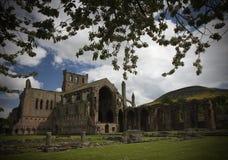 abbeymelrose scotland Royaltyfri Foto
