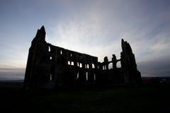 abbeysilhouette Fotografering för Bildbyråer