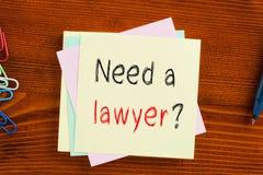 Abbia bisogno di un avvocato fotografia stock libera da diritti