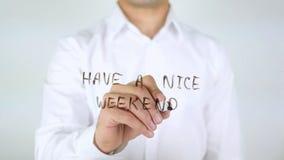 Abbia Nizza un fine settimana, scrivente sul vetro fotografia stock libera da diritti