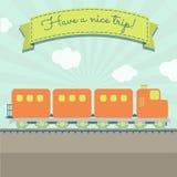 Abbia Un Viaggio Piacevole Del Treno Illustrazione Vettoriale
