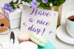 Abbia una nota Nizza del giorno fotografia stock