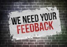 Abbiamo bisogno delle vostre risposte Immagini Stock Libere da Diritti