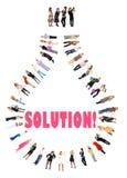 Abbiamo ottenuto una soluzione! Fotografie Stock Libere da Diritti