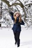 Abbiamo una lotta della neve Fotografie Stock Libere da Diritti
