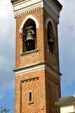 Abbiate gammalt klockatorn Italien Arkivfoto