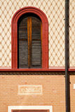 Abbiate varese italy abstract  window  church and venetian blind Stock Photos
