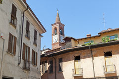 Abbiategrasso (Milan). Abbiategrasso (Milan, Lombardy, Italy), old buildings Royalty Free Stock Images