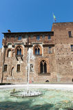 Abbiategrasso (Milan), castle. Abbiategrasso (Milan, Lombardy, Italy), medieval castle and fountain Stock Photography