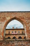 Abbiategrasso Visconti Castle, built in 1382 by Gian Galeazzo Visconti above a pre-existing 13th-century fortification.  royalty free stock image