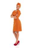 Abbigliamento africano della donna Fotografie Stock
