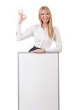 Abbigliamento alla moda d'uso di modello nell'approvazione isolato Fotografia Stock Libera da Diritti
