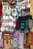 Abbigliamento casalingo della lana Immagini Stock
